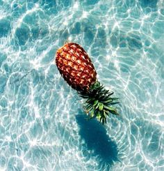 pineapple in water