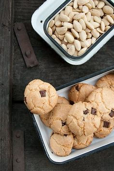 Gluten free almond choc chip cookies, perfect year around, but best for Passover/Pesach