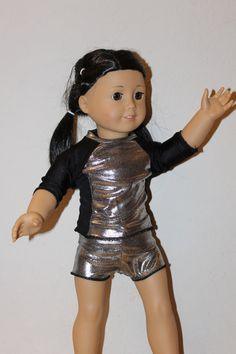 American Girl Doll Clothes  Silver and Black by IttyBittySmiles, $18.00