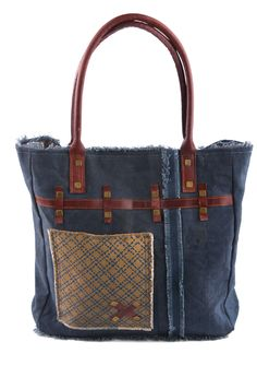 Indigo - Reclaimed Canvas Tote Bag