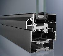 Stahlfenster, thermisch getrennt, 2 Dichtungen, Bautiefe 60mm, bis Uw-1,1 W/m²K, 60 mm breites Stahl-Profil SCHÜCO JANSEN