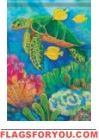 Sea Turtle Coral Garden Flag
