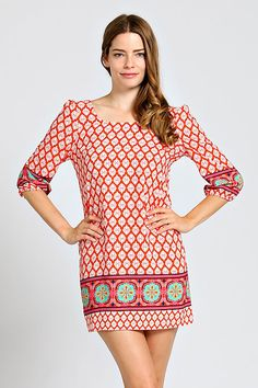 BAROQUE ZIPPER SCOOP BACK SHIFT DRESS