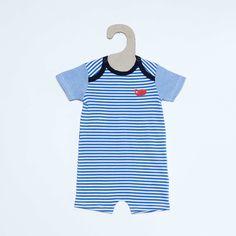 Pyjama léger forme barboteuse                                                                                                                                                                                                 bleu turquoise Bébé garçon
