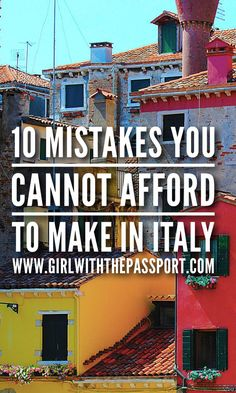 How to Avoid these Italy Travel Mistakes and Have a Spectacular Italian Vacation Planning your trip to Italy? Then check out these secret Italy travel hacks that will help you avoid common mistakes and travel smarter. Places To Travel, Places To See, Travel Destinations, Holiday Destinations, Cinque Terre, Italy Travel Tips, Budget Travel, Travel Guide, Italy Vacation