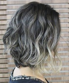 Attractive Grey Ombre Short Hairstyles 2018 for Women