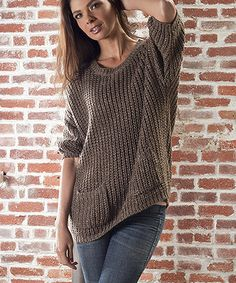 $27.99! Take a look at this Brown Sweater by Sisters on #zulily today!