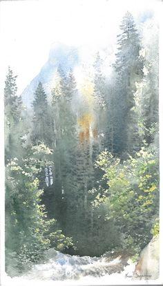 Michal Suffczynski Tatra mountains,watercolor 30/60 cm