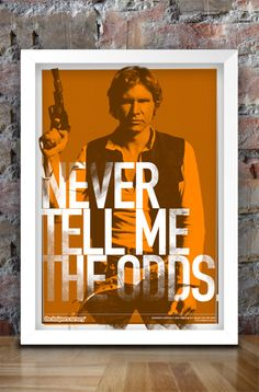 Star Wars Inspired Print Heroes Series HAN by thedesignersnursery, I freaking love this