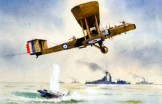 1918 08 Blackburn Kangaroo sinks an U-boat in the North Sea