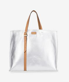 Buckle Tote in Silver