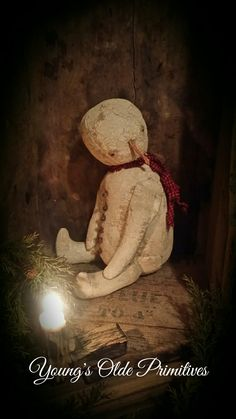 Primitive Country Christmas, Primitive Snowmen, Primitive Crafts, Primitive Christmas, Christmas Snowman, Rustic Christmas, Winter Christmas, Christmas Crafts, Christmas Trees
