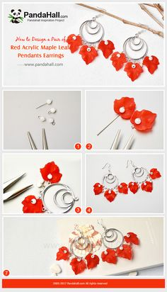PandaHall Inspiration Project---Red Acrylic Maple Leaf Pendants Earrings Do you wanna make your winter more colorful? Then try this red acrylic maple leaf pendants earrings, which are very easy to make! PandaHall Beads APP is on, download here>>>goo.gl/jLxpjp Free Coupons: PHENPIN5 (Save $5 for $70+) PHENPIN7(Save $7 for $100+) #PandaHall #jewelrymaking #earrings #diyjewelry #leaf #maple #pendant #craft #tutorial