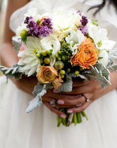 WeddingChannel Galleries: Multicolored Bridal Bouquet