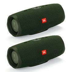 JBL Charge 4 Portable Waterproof Wireless Bluetooth Speaker Bundle (Pair) Green Click the picture for more.. New 2020 Products Trends Phone Case Amazon Ebay Passive Radiator, Signal To Noise Ratio, Bluetooth Speakers, Fabric Material, Pairs, Radiators, Spectrum, Phone Case