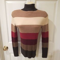 The Limited Turtle Neck Long Sleeve Sweater Multi Color Size Large #TheLimited #Sweater
