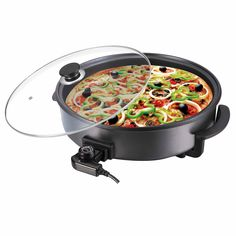 Stone-coat technology has revolutionised cookware. Our Large Stoneware Electric Frying Pan offers a natural alternative to traditional pan frying.
