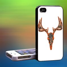 Deer Head Buck Black Camo Wood Custom Case by laskarspelangi, $14.89