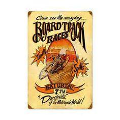 Board-Track-Motorcycle-Vintage-Metal-Sign