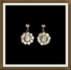 Art Deco Silver Crystal Drop Earrings