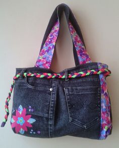 Carteras de Jeans Reciclados ~ Ideas Giya