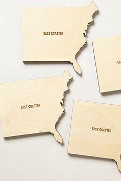 Coast-To-Coast Coaster Set #anthropologie