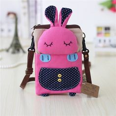 Item Type:Crossbody Bag   Feature:Cute Animal Pattern   Material:Canvas    Weight:160  g    Length:  13.5cm(5.31'')   Height:  18cm(7.09'')   Width:  2cm(0.79'')  Pattern:  Solid   Inner Pocket:  Main Pocket, Zipper Pocket, Phone Pocket, Card Pocket   Closure:  Zipper                          Package Included:   1 * Bag