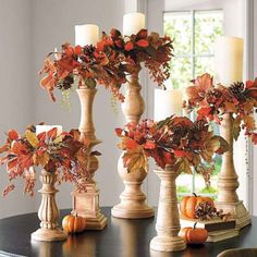 44 Easy and Practical DIY Fall Decor Ideas. To create a fantastic fall decoration you will need a brilliant idea and some unusual elements. If you wish to save a few of these fabulous DIY fall decor i. Autumn Decorating, Fall Outdoor Decorating, Fall Decor Outdoor, Deco Floral, Deco Table, Fall Home Decor, Autumn Decor Living Room, Dyi Fall Decor, Natural Fall Decor