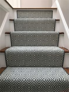 Carpet Runner Rods For Stairs Carpet Staircase, Staircase Runner, Basement Carpet, Staircase Remodel, Stair Runners, Hall Carpet, Basement Stairs, Carpet And Laminate Stairs, Pattern Carpet On Stairs