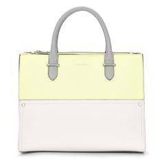 Colour Block Yellow Tote Bag at Laura Ashley