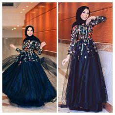 #hijab #dress #fashion #soiree  Pinterest: @GehadGee Hijab Prom Dress, Hijab Gown, Hijab Evening Dress, Muslim Dress, Kebaya Muslim, Evening Dresses, Prom Dresses, Hijab Outfit, Hijab Fashion