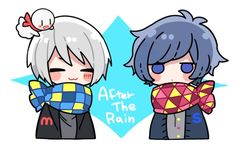 omg I do not believe that this mafu mafumafu and soraru ≧∇≦ Chibi Boy, Kawaii Chibi, Cute Chibi, Kawaii Art, Anime Chibi, Anime Manga, Anime Art, Durarara, Hatsune Miku