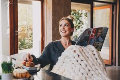 Knitted Blankets, Merino Wool Blanket, Knitting, Tricot, Cast On Knitting, Stricken, Crocheting, Knits, Yarns