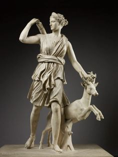 """""""Artemis with a Doe"""" 4-5th centuries B.C.E. I would like to see this work because I've always had a love for ancient Greek architecture, sculpting, and art."""