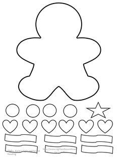 Fun Lesson plan and Gingerbread Man Cutout Template for the book Gingerbread Man Loose in the School. Great for Preschool, Kindergarten or grade. Gingerbread Man Template, Gingerbread Man Decorations, Gingerbread Man Crafts, Gingerbread Man Activities, Christmas Gingerbread, Christmas Crafts For Kids To Make, Preschool Christmas, Toddler Christmas, Christmas Printable Activities