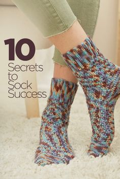 10 Secrets to Sock Success | Crochet socks are fun to make and my personal favorite. I make them and wear them more than any project. In fact, I've made over 100 pairs in the last few years. Socks are fun to make, comfortable, and quick to stitch!