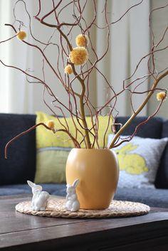 Pompon-Deko als Blumenvariante
