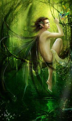 Green Elf----Laiquendi by Ginger-J.deviantart.com on @DeviantArt