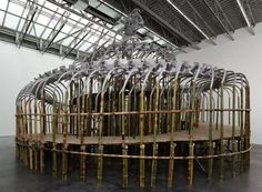 Huang Yong Ping Tower Snake, 2009 Aluminum, bamboo, steel 22 x 39 x 37 feet 260 x 468 x 444 inches (660 x 1189 x 1128 cm)