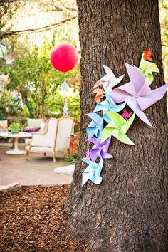 DIY Paper Pinwheels - party decoration