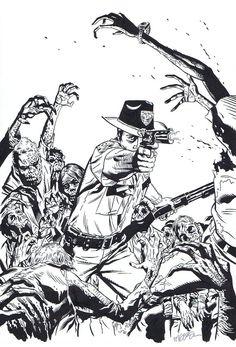 Walking Dead-Michael Golden Variant Comic Art