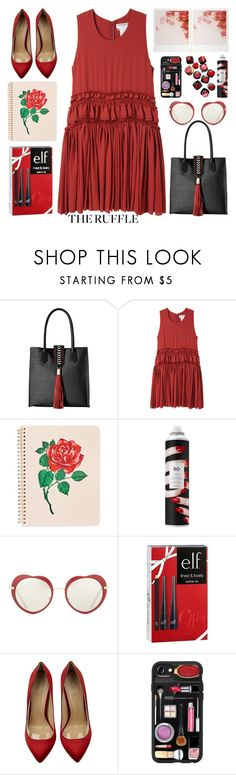 """the ruffle"" by emcf3548 on Polyvore featuring Badgley Mischka, Charles Anastase, ban.do, R+Co, Miu Miu, Barneys New York, e.l.f., Charlotte Olympia and Casetify"