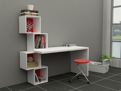 escritorio con estanteria moderno ref: real
