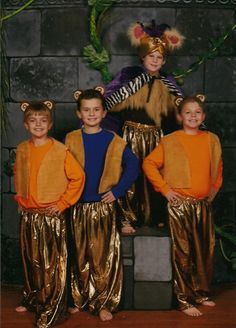 King Louie and the monkeys, St. Patrick School, Louisville, KY production of Jungle Book Kids, Nov 2014