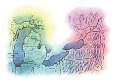 10 Top Great Lakes Steelhead Runs Manistee River, Steelhead Flies, 10 Top, Great Lakes, Rivers, West Coast, Fishing, Running, Painting