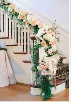 Stairs with flowers