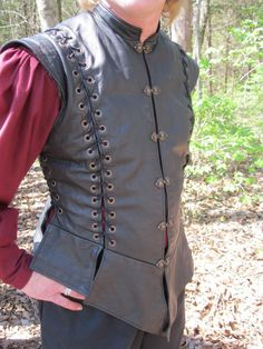 Laced Leather Singlet 40 black by RoguesToRegals on Etsy, $287.00