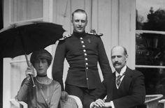 King Haakon VII, Queen Maud, Crown Prince Olav