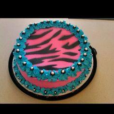 Dairy Queen Cake zebra