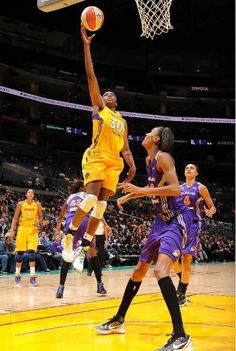 Los Angeles found power in their forwards, with Nneka Ogwumike recording her first career double-double and Candace Parker earning her fourth consecutive double-double, guiding the Sparks past the Phoenix Mercury 90-74.